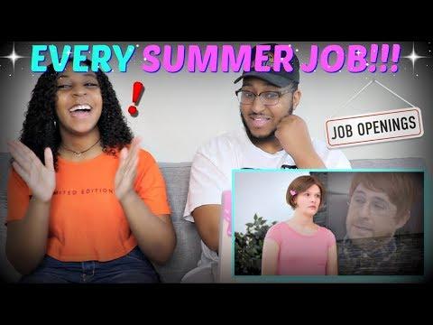 Smosh  EVERY SUMMER JOB EVER  REACTION!!!