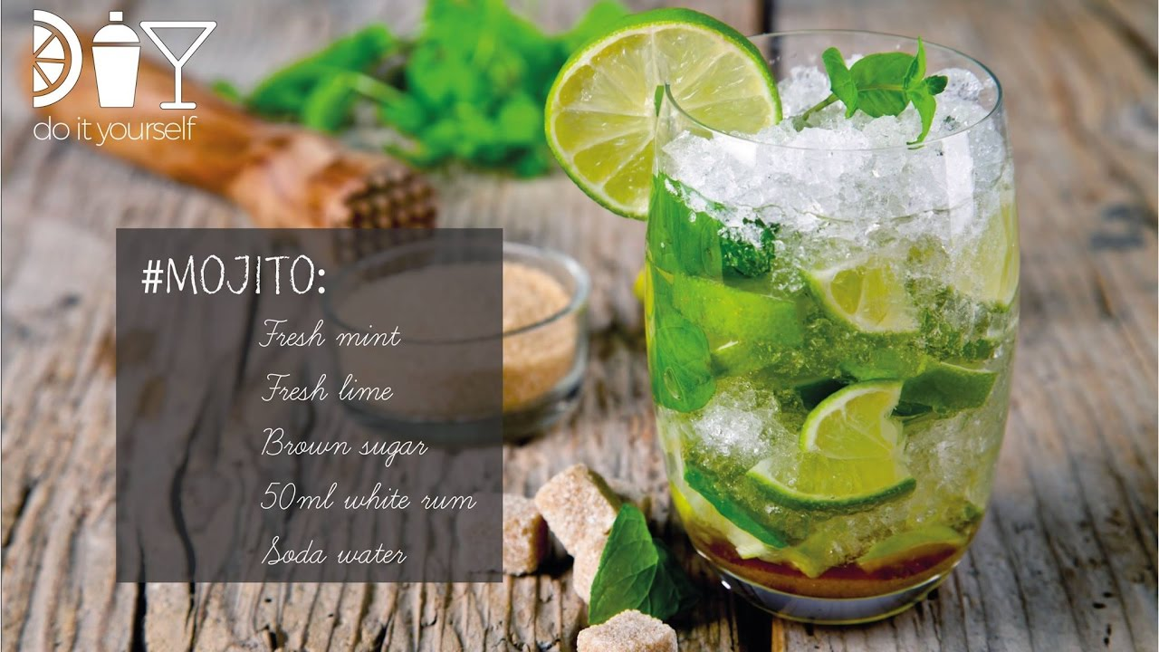 Diy mojito how to make cocktails at home youtube for Fun cocktails to make