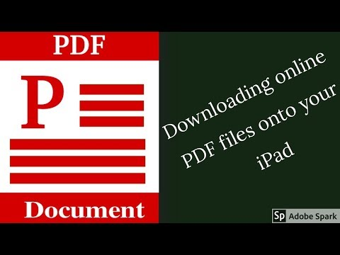 How to save online PDF files onto your iPad 2018| Paperless Student