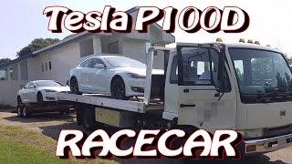 Tesla P100D is an Electric Racecar when Drag Racing