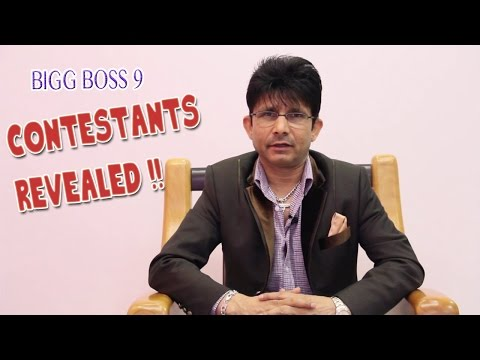 Bigg Boss 9 Contestants Revealed by KRK | Leaked | Double Trouble | KRK Live