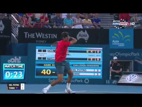 ATP Sydney Final 2014 - Juan Martin del Potro (1) vs Bernard Tomic [HD 720p]