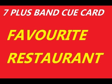 EASY IELTS ------- IELTS CUE CARD 2017 - Describe your favourite restaurant