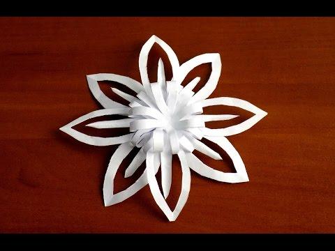 как сделать из бумаги маленькую снежинку видео объемные снежинки