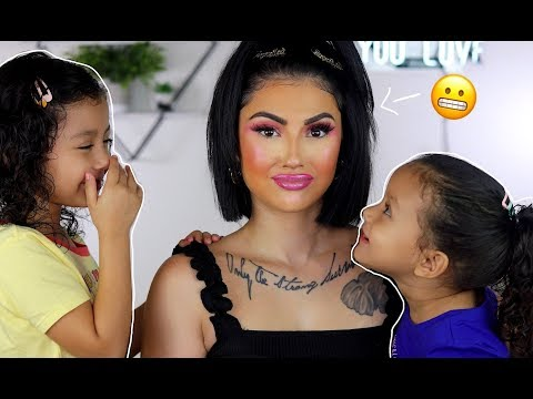 Doing My Makeup UGLY To See How My Daughters Would React! thumbnail