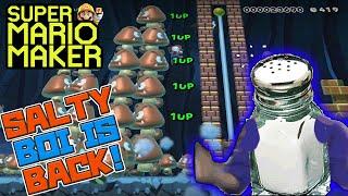 SALTY BOI IS BACK! - Super Mario Maker - Super Expert with Oshikorosu