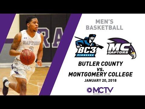 MC Raptors Men's Basketball vs. Butler County Community College, 1/20/2018
