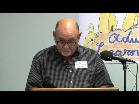 Carl Plessala shares literary progress as an adult learner