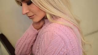 Стильный женский теплый костюм с юбкой и кофтой