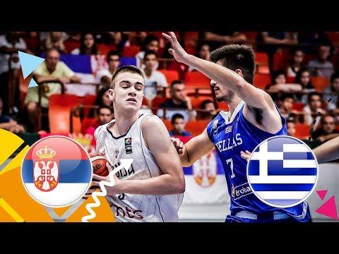Serbia v Greece – Class. 5-6 – Full Game – FIBA U16 European Championship 2018