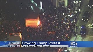 New Anti-Trump Protests In Oakland Day After Election