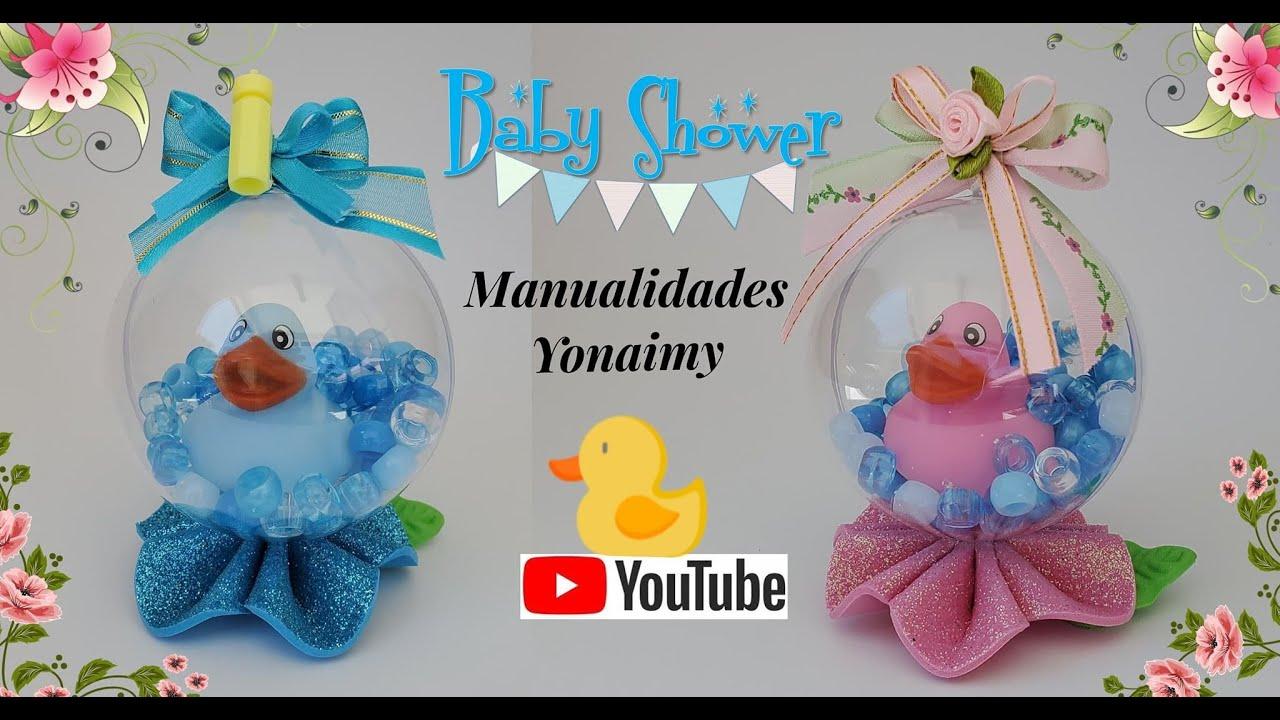 👶👶 RECUERDOS DE BABY SHOWER DE PATITOS 🦆 SOBRE AGUA EN ESFERA - YouTube