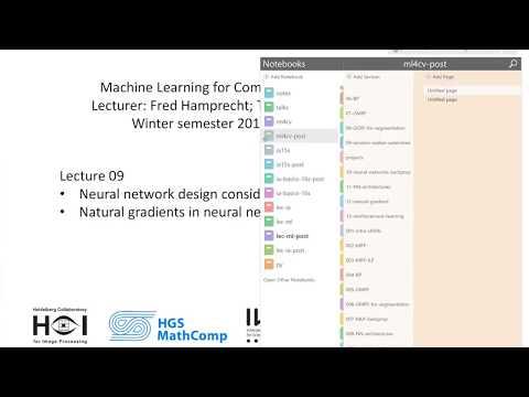 Lecture 3.5 Natural Gradient Optimization (I) | Neural Networks | MLCV 2017