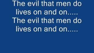 Iron Maiden-The Evil That Men Do Lyrics