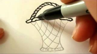 Fantastic Flower Basket !!  How To Draw A Flower Basket