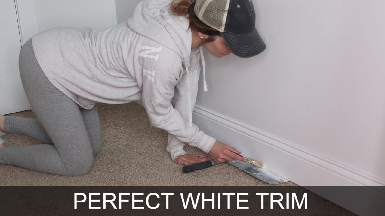 Secret To Perfect Painted White Trim Baseboard And Window