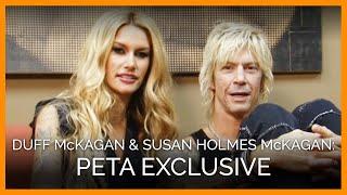 Duff McKagan and Susan Holmes McKagan for PETA