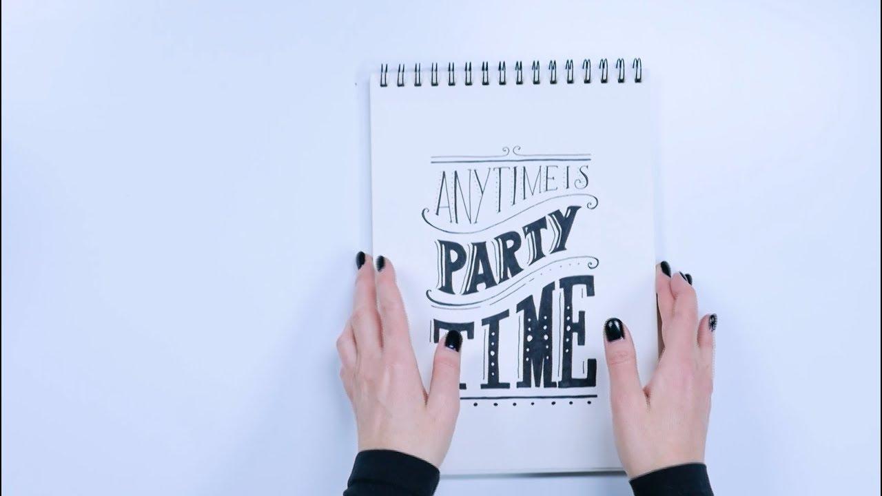 Voorkeur Maak je eigen verjaardagskalender - HANDLETTERING DOE JE ZO! - YouTube #KP31