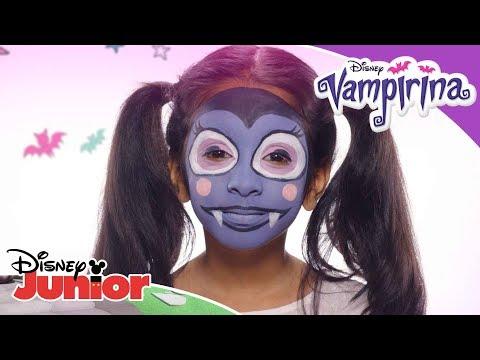 Facepaint Tutorial 🎨   Vampirina   Disney Junior Arabia