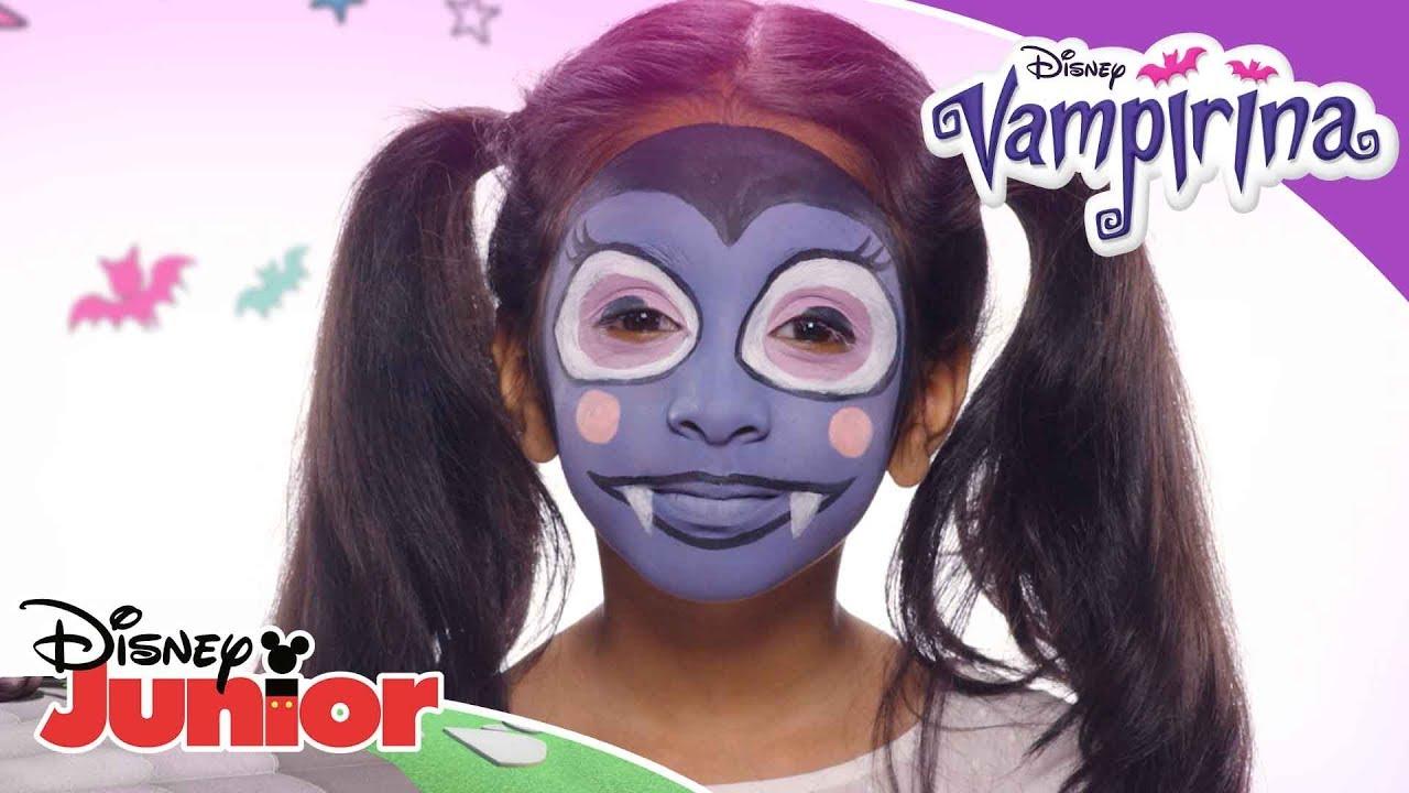 Facepaint Tutorial Vampirina Disney Junior Arabia Youtube