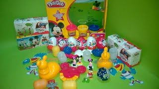 Mickey Mouse Clubhouse Full Episodes - Play Doh Kinder Surprise Eggs 2014