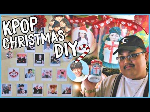 DIY KPOP Holiday Room Decor! (BTS, GOT7, etc.)   KPOPAMOO