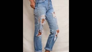 Moda 2018 Fashion 2017 Youth dresses jeans rotos Youth