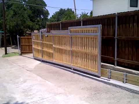Frickscapes 30 Foot Electric Sliding Gate Youtube