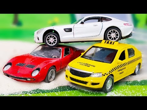 Disney Toys for Children - Learn Colors Police Truck Cars Toys Videos for Kids. Мультики про машинки