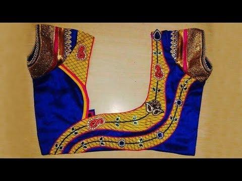 Awesome Street Designer Tailors || Latest Patch Work Designer Back neck Blouse Designs