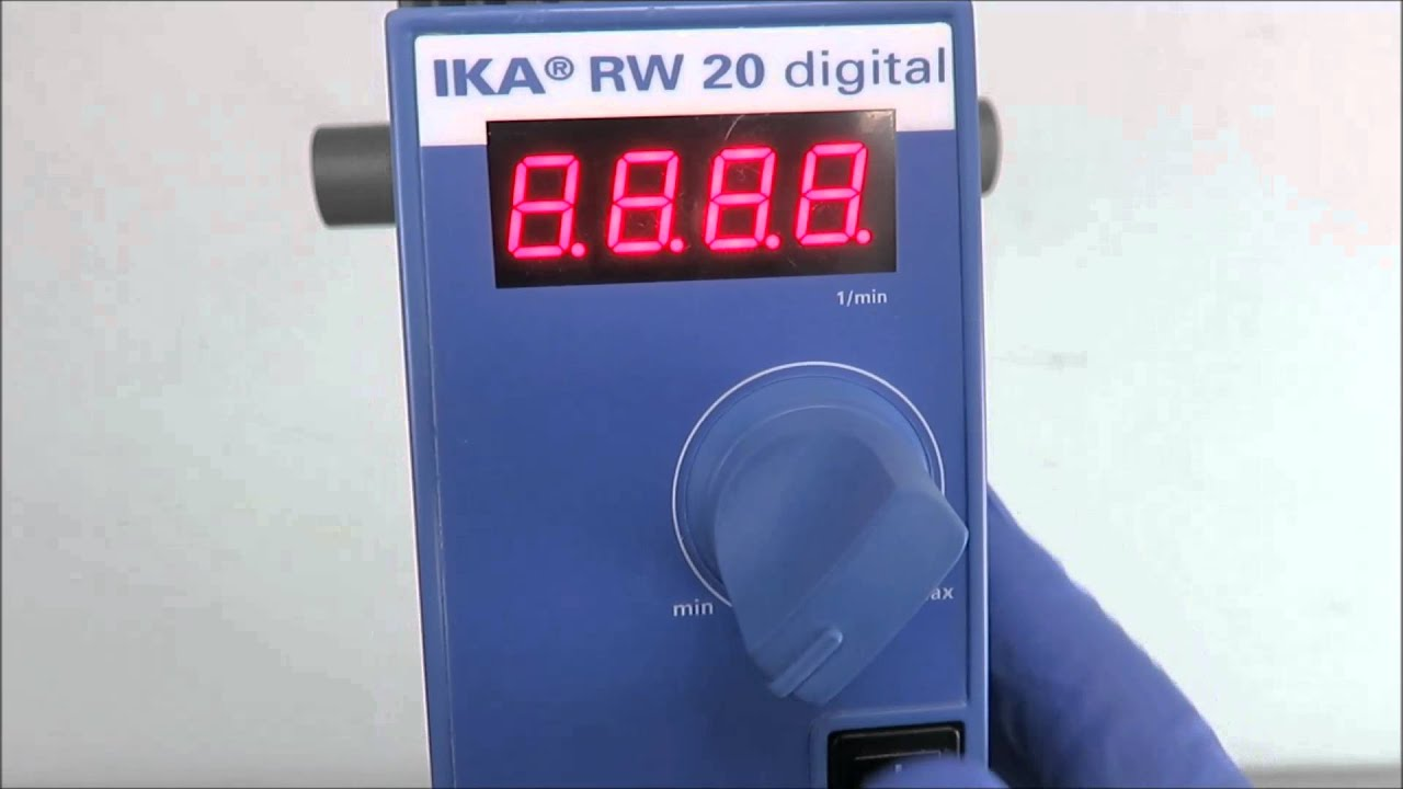 Rw 20 digital overhead stirrer by ika.