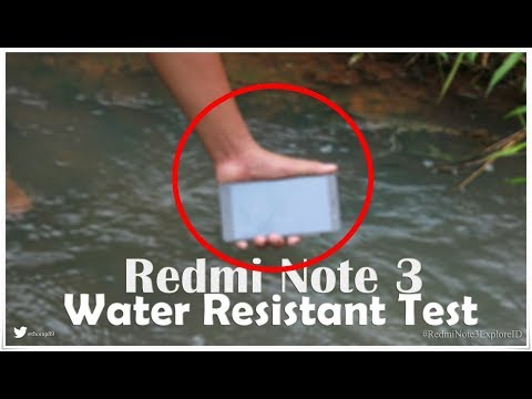 Redmi Note 3 - Water Resistant Test INDONESIA #RedmiNote3ExplorerID