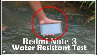 Redmi Note 3 PRO  - Water Resistant Test INDONESIA #RedmiNote3ExplorerID