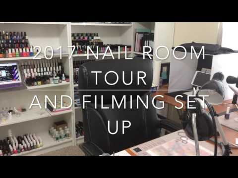 2017 Nail Room Tour|Nail Art Collection|Filming Set Up (very long...lol)✓