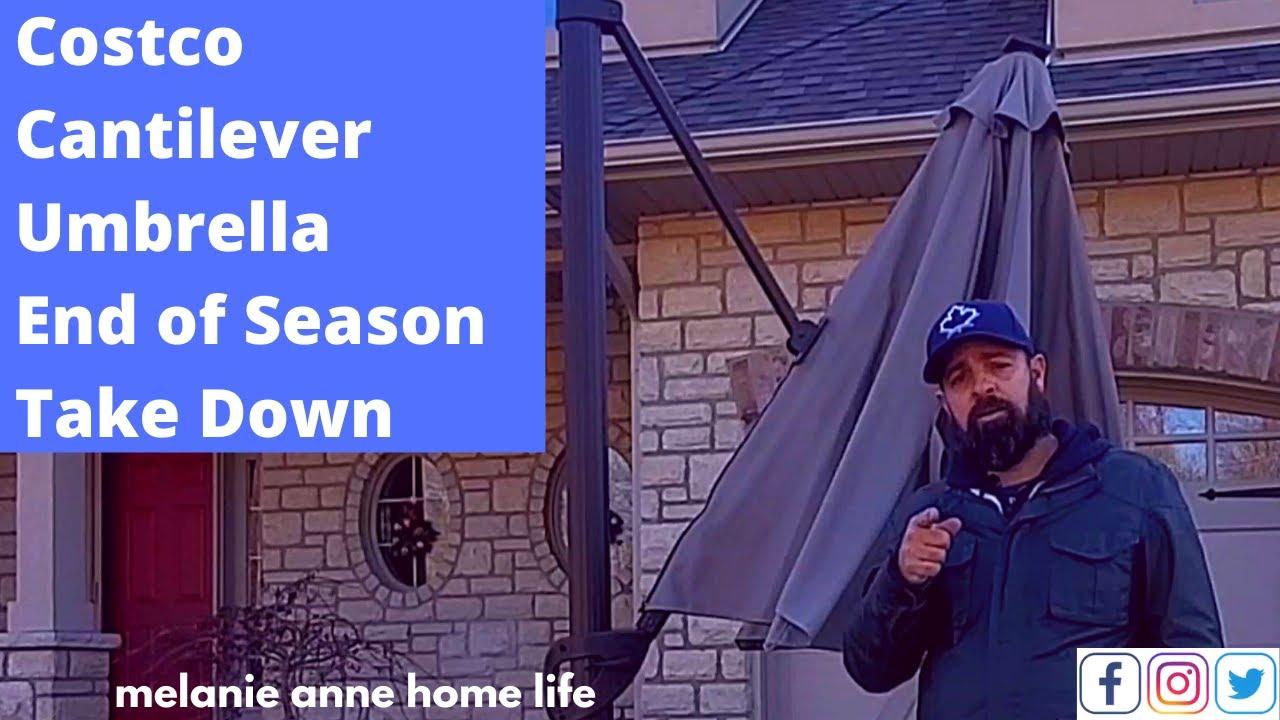 costco cantilever umbrella update youtube