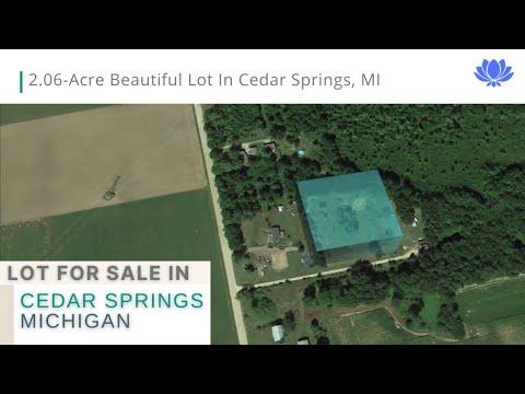 2.06-Acre Beautiful Lot in Cedar Springs, MI. Financing Guaranteed!