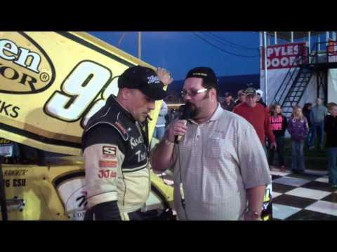 Port Royal Speedway 410 Sprint Car Victory Lane 4-13-13