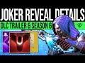 Destiny 2 | DLC REVEAL INBOUND! Jokers Wild Vidoc, Patch Previews, New Content & More!