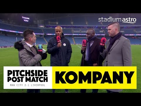 PITCHSIDE: Vincent Kompany post match reaction | Man City 2-1 Liverpool | Astro SuperSport