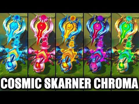 All Cosmic Sting Skarner Chroma Skins Spotlight (League of Legends)