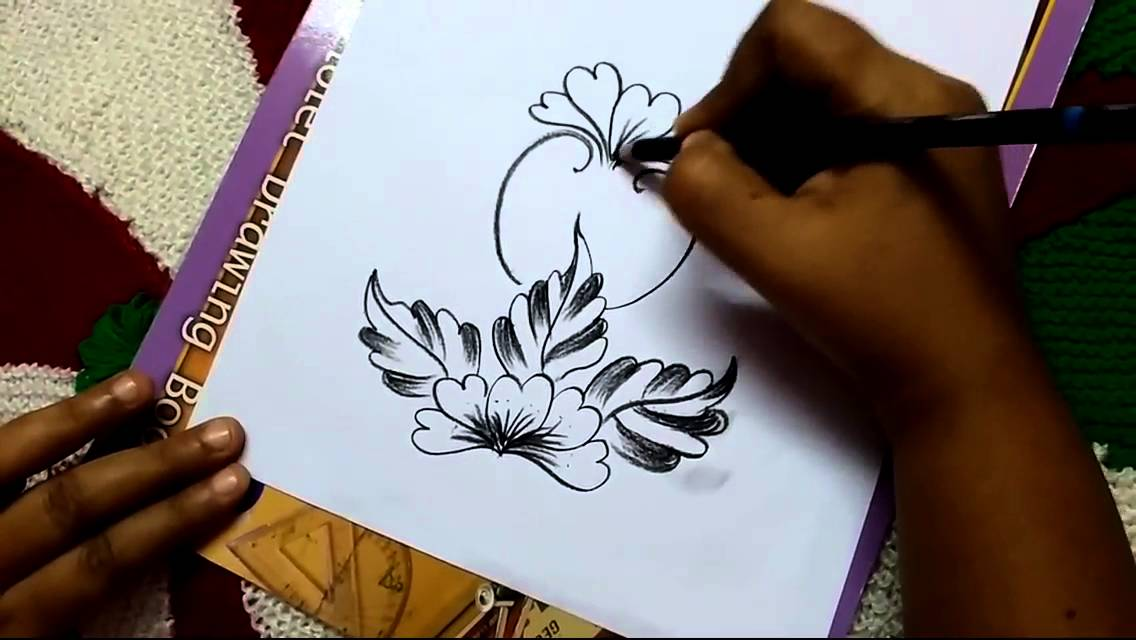 Free Hand Corner Design With Charcoal Pencil III By Premlata YouTube