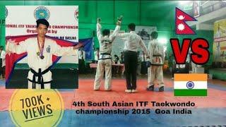 Indian player kickedOut by Nepali gorkhali  || 4thSouth Asian Taekwondo Championship