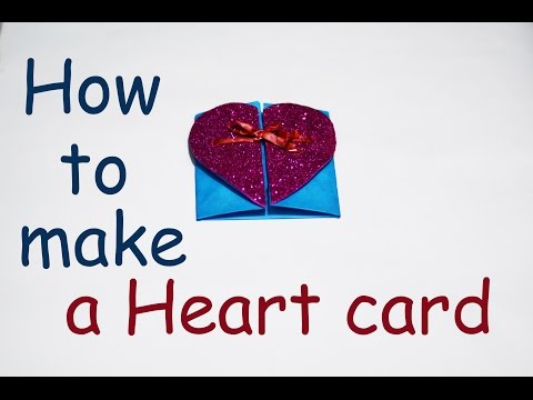 How to make a paper heart card gift for your mom   DIY   HD
