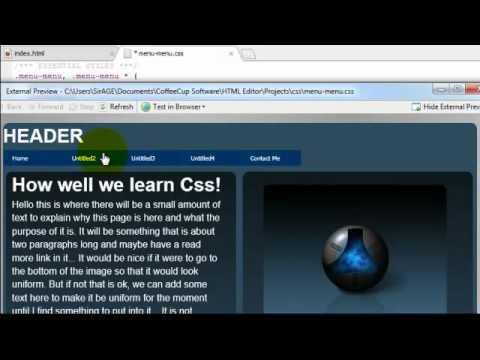 How to Center a CSS Menu...