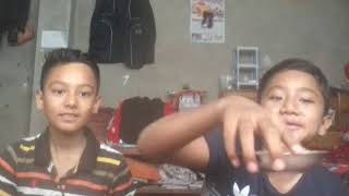 Me and my brother Jiten doing Spicy bhogate challange