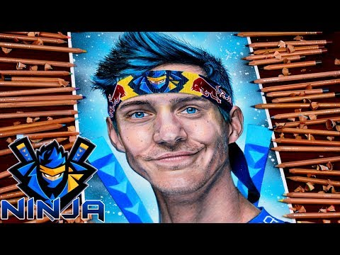 Drawing Ninja Fortnite Battle Royale - Portrait Realistic Skin - Best Fortnite Player In The World