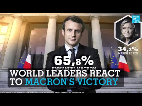France Presidential Election: World Leaders react to Emmanuel Macron's victory