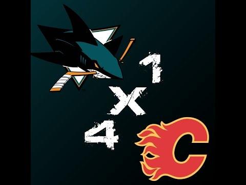 San Jose Sharks 1 x 4 Calgary Flames - 55º Jogo da Temporada 2014-2015 - HIGHLIGHTS