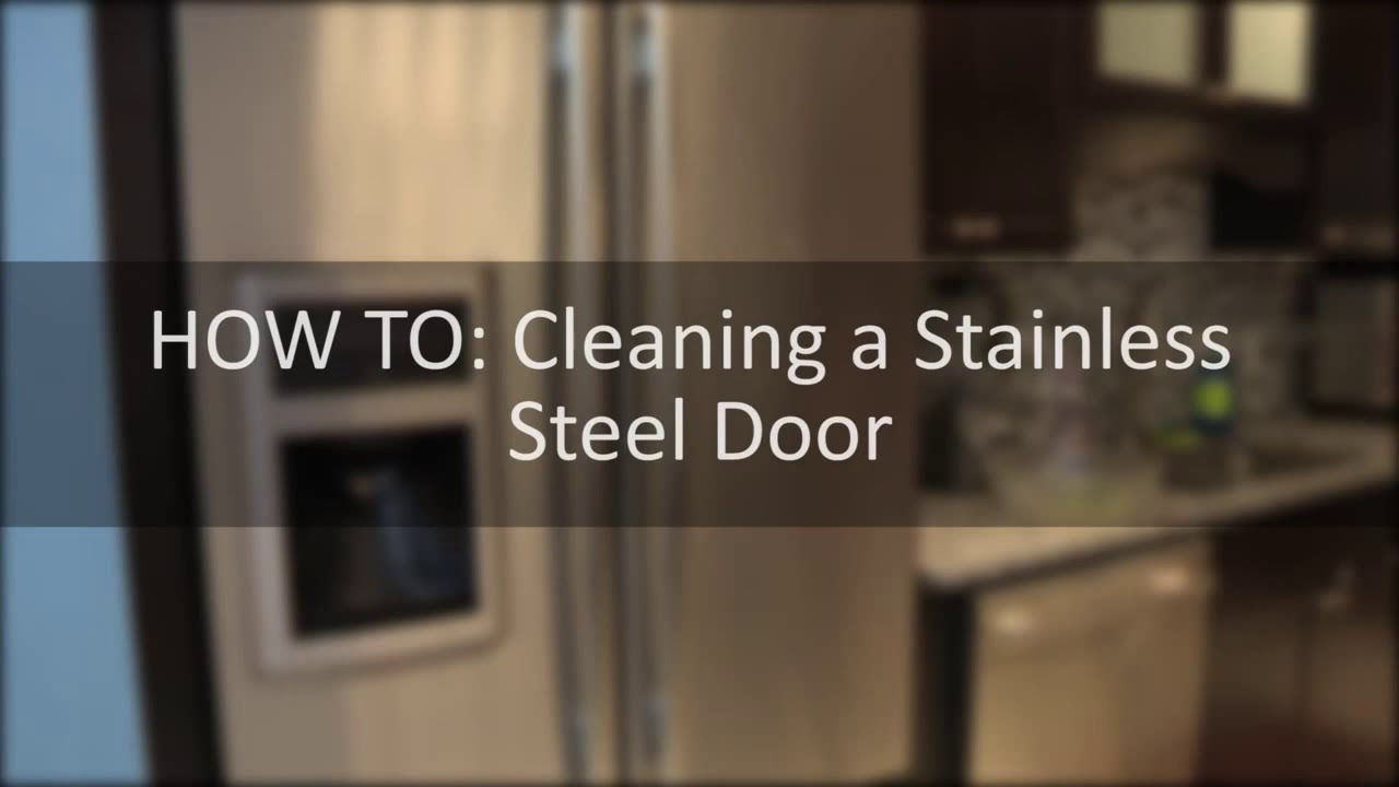 Genial How To Clean A Stainless Steel Door, Dealing With Smudges And Smears.