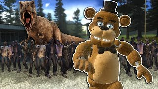 T-REX Saves Us From the Zombie Apocalypse in Gmod! - Garry's Mod Multiplayer Zombie Survival
